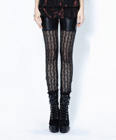 Detail image to DARK IN LOVE Gothic Grid Leggings