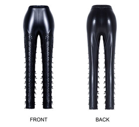 Detail image to DARK IN LOVE Fringe Punk Leggings