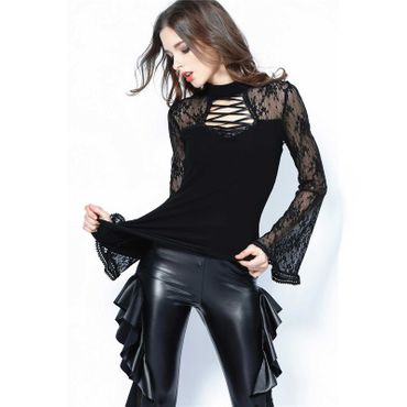 DARK IN LOVE Gothic Bell Sleeve Top