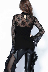 Detail image to DARK IN LOVE Gothic Bell Sleeve Top