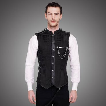 VINTAGE GOTH Strict Men's Overchest Corset