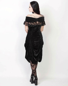 Detail image to VINTAGE GOTH Black Velvet Dream Dress