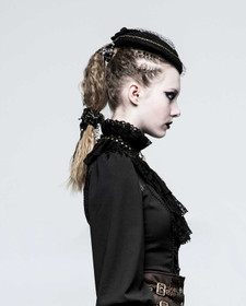 Detail image to PUNK RAVE Ruff Collar w. Lace Necktie