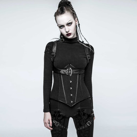 PUNK RAVE Cyber Harness Korsett Set