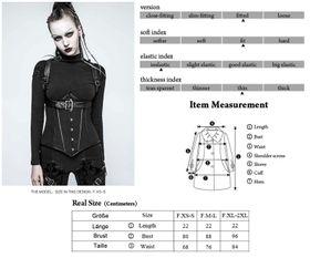Detailbild zu PUNK RAVE Cyber Harness Korsett Set