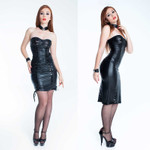 PATRICE CATANZARO Tamara Wetlook Dress 001