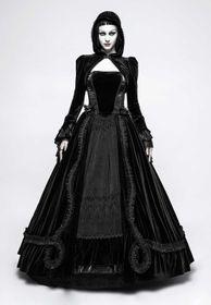 Detailbild zu PUNK RAVE Black Fay Samt-Bolero