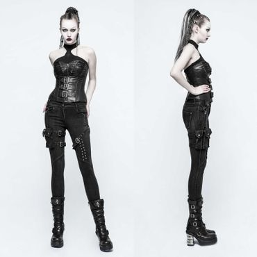PUNK RAVE Skinny Black Jean