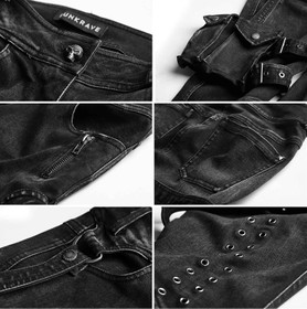 Detail image to PUNK RAVE Skinny Black Jean