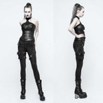 PUNK RAVE Skinny Black Jean 001
