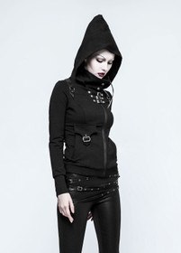 Detail image to PUNK RAVE Gothic Hoodie Women