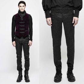 PUNK RAVE Gothic Jacquard Pants
