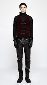 Detail image to PUNK RAVE Brocade Vest Red