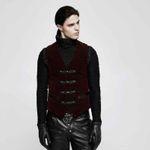 PUNK RAVE Brocade Vest Red 001