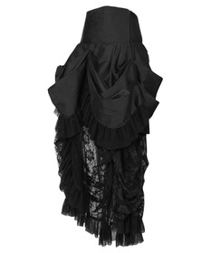 Detail image to VINTAGE GOTH Gothic Veil Skirt Black