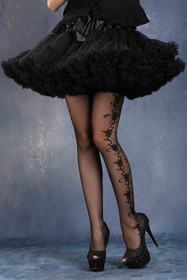 Detail image to DARK IN LOVE Short Petticoat Black