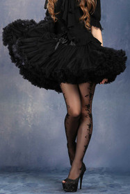 Detailbild zu DARK IN LOVE Kurzer Petticoat Schwarz