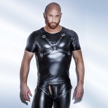 NOIR HANDMADE Wetlook Harness Top