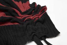 Detailbild zu PUNK RAVE Strick-Longshirt Schwarz-Rot