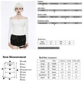Detail image to PUNK RAVE Off The Shoulder Strap Shirt White