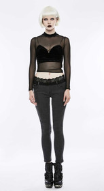 Detail image to PUNK RAVE Jeans Treggings With Lace Waistband