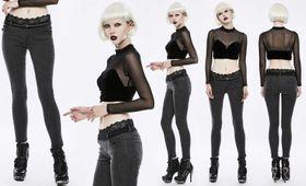 Detailbild zu PUNK RAVE Jeans Treggings Mit Spitzenrand