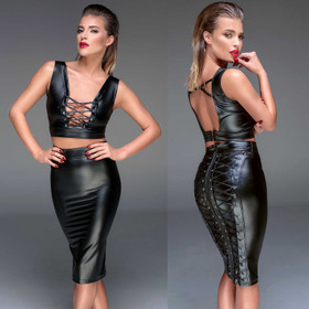 NOIR HANDMADE Wetlook Pencil Skirt