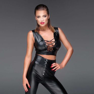 NOIR HANDMADE Wetlook Bustier Top