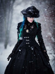 DARK IN LOVE Gothic Manteau 001