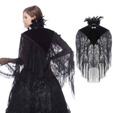DARK IN LOVE Feather Neck Cape