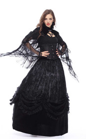 Detailbild zu DARK IN LOVE Feather Neck Cape