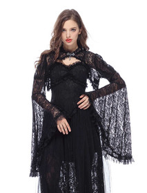 Detail image to DARK IN LOVE Lace Bolero Jacket