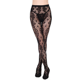 Detail image to Flower Fishnet Tights