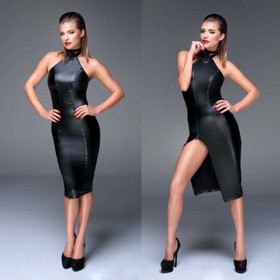 NOIR HANDMADE Wetlook Pencil Dress