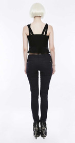 Detail image to PUNK RAVE Basic Black Jeans
