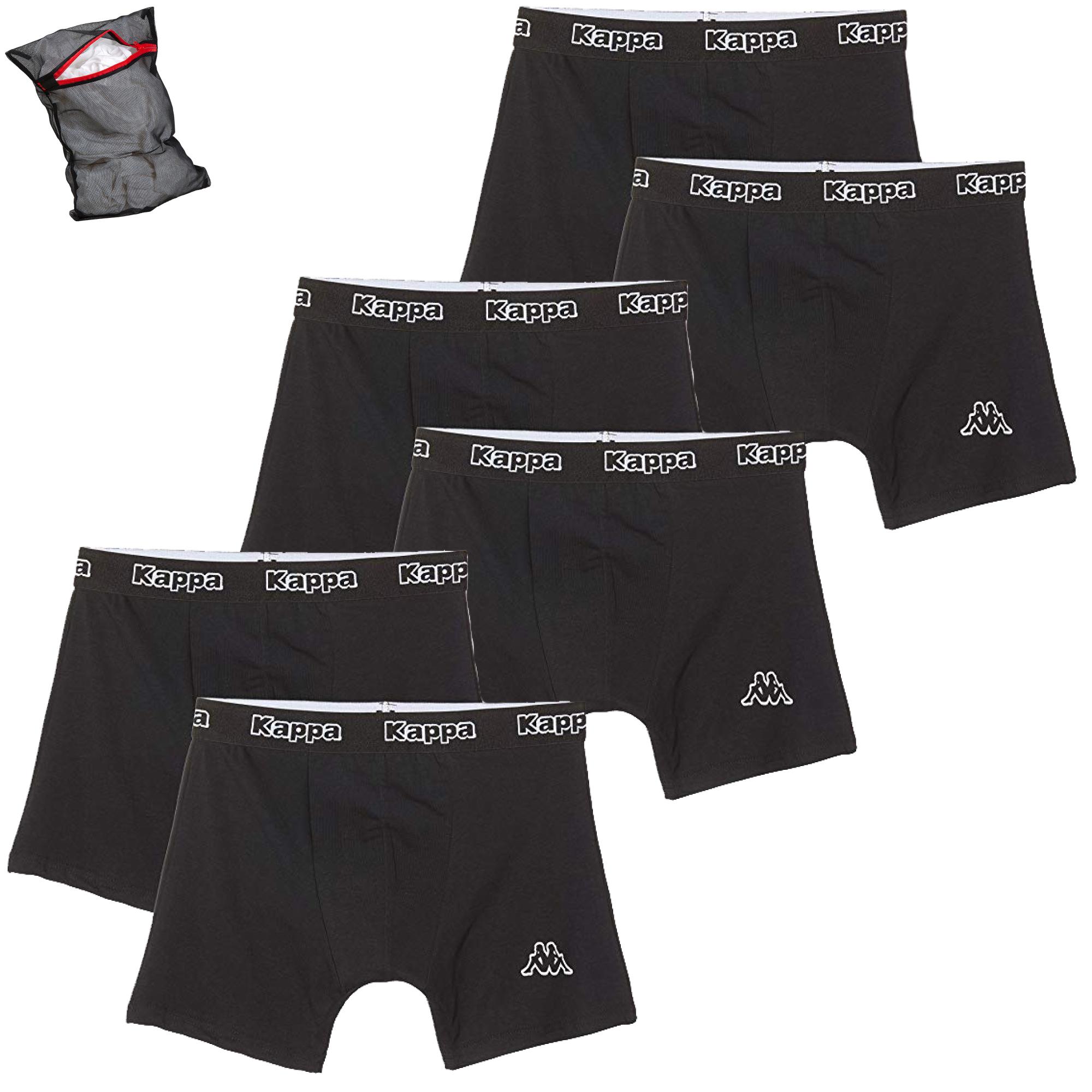 Kappa Herren Unterhosen Ziatec Edition mit W/äschenetz 3er 9er Pack M/änner-Boxershorts