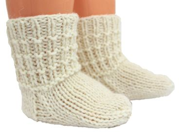 Baby Kinder Damen Herren Socken handgestrickt reine Schurwolle – Bild 9