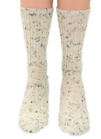Damen Herren Wollsocken Tweedgarn Schafwolle – Bild 2