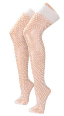 Damen Netz Overknee Strümpfe – Bild 2