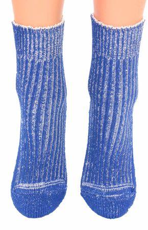 Baby Kinder Damen Socken Söckchen mit Plüschsohle meliert – Bild 2