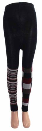 Kinder Legging 1 Bein Ringel 1 Bein Karo – Bild 4