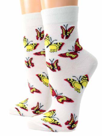 Damen Socken Motiv Schmetterling – Bild 2