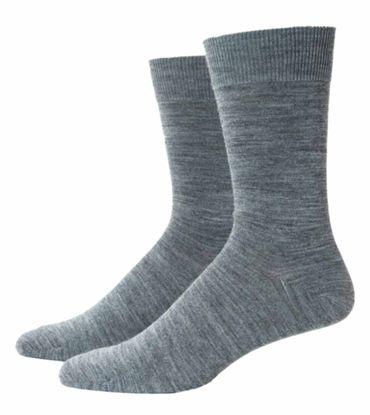 Damen Herren Socken Wolle mercerisiert graumeliert – Bild 3