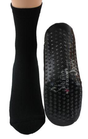 Sockenschuhe Homesocks Hüttenschuhe ABS schwarz B-Ware – Bild 2