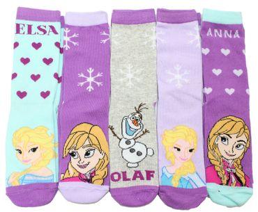 Kinder Socken 5er Pack Eiskönigin Frozen – Bild 2
