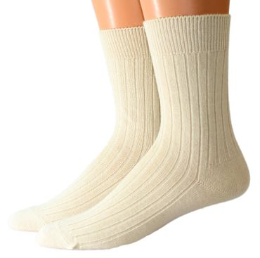 Damen Herren Socken 4:2 Rippe Schurwolle – Bild 1
