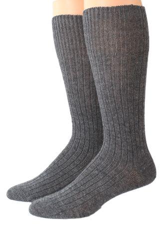 Herren Socken wadenlang Kniestrumpf 3:1 Rippe – Bild 2