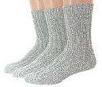 Herren Damen Norweger Socken 3er Pack weich & warm 001