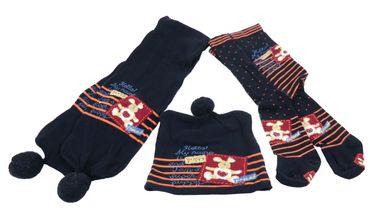 Baby Kinder Strumpfhose Set mit Schal und Mütze – Bild 2
