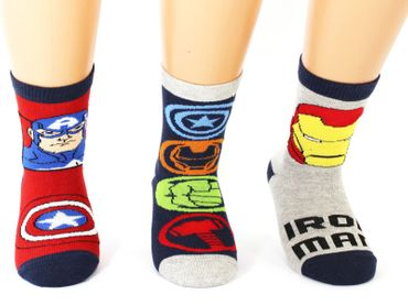 Marvel Kinder Superhero Socken 3er Pack – Bild 1